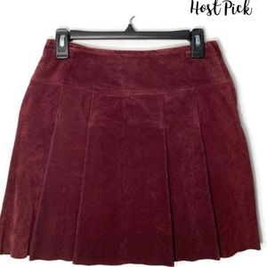Vintage Wilson's Maxima 100% Leather Suede Skirt.
